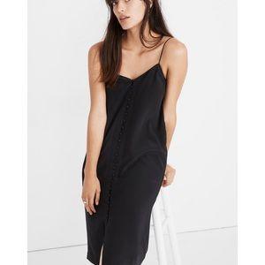 Madewell Silk Button-Front Slip Dress